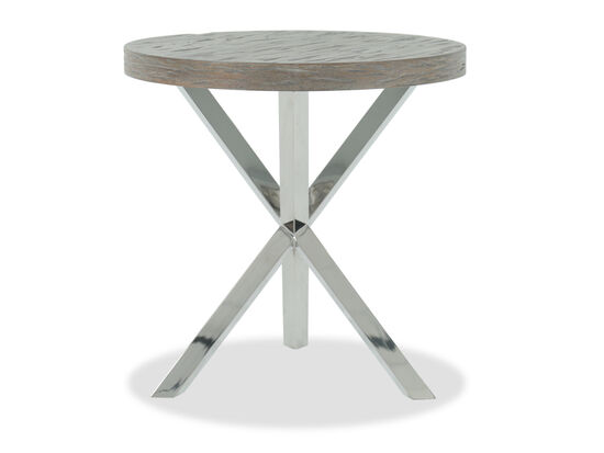 X-Brace Casual Chairside Table in Gray Pearl