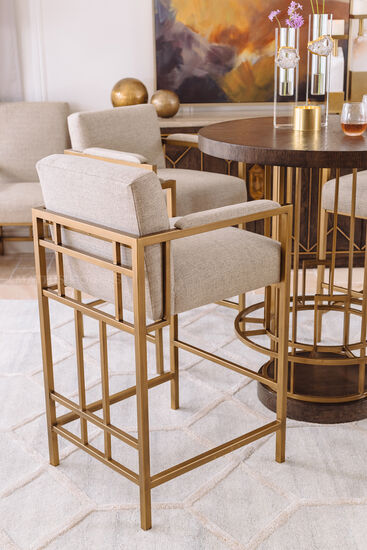 """Contemporary 42"""" Counter Stool in Bronze"""