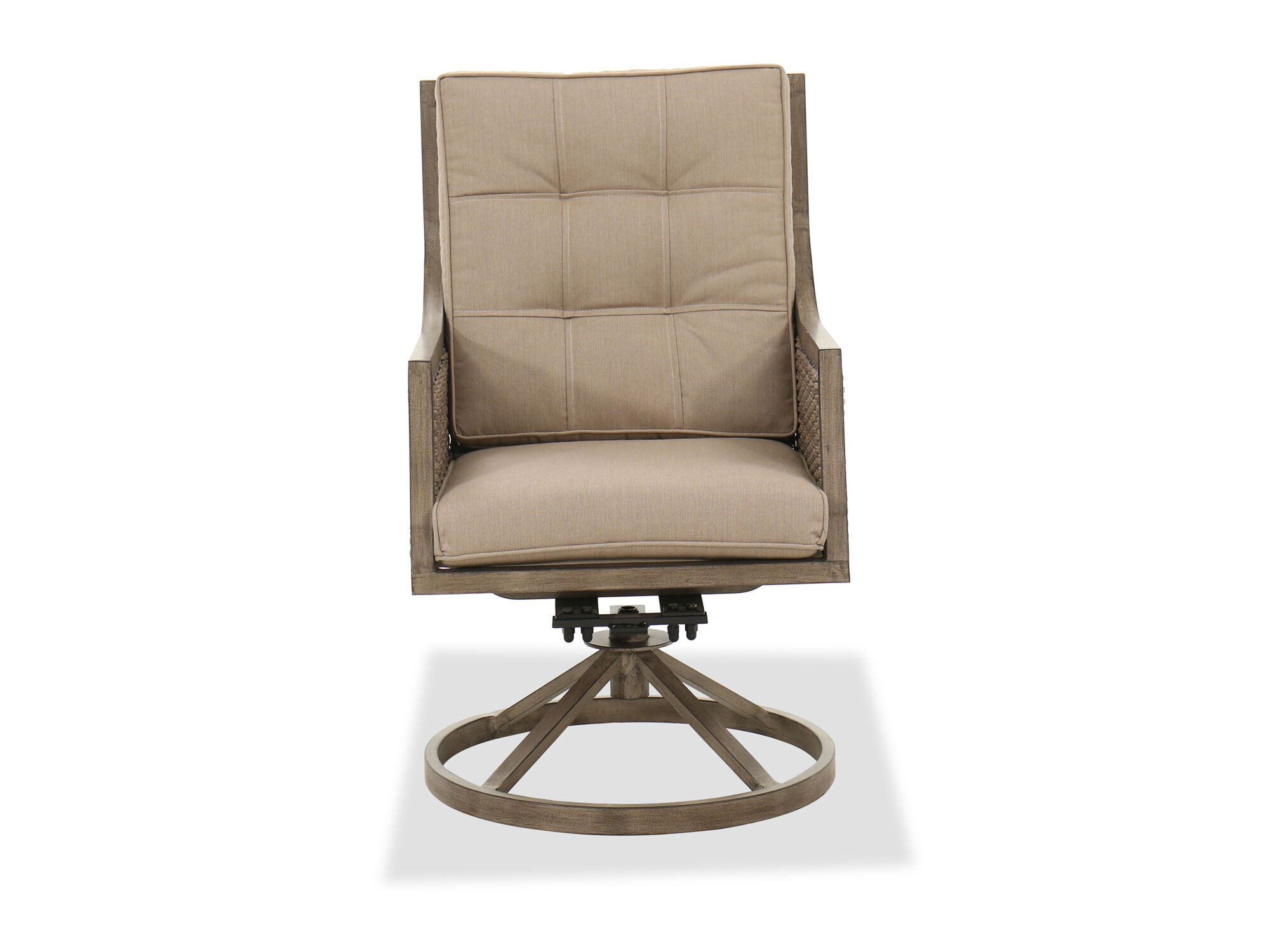Casual Swivel Dining Chair In Brown Mathis Brothers Furniture