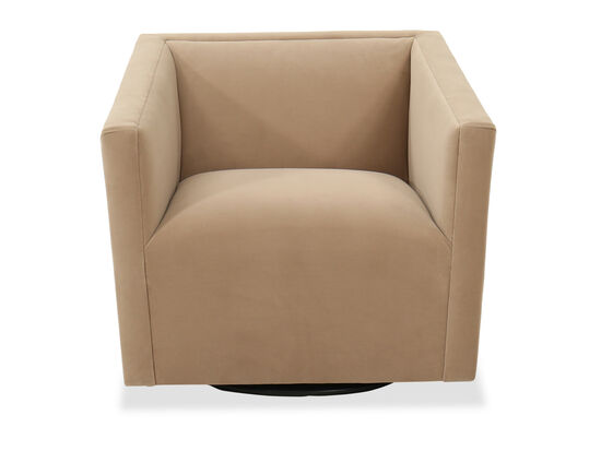Traditional Swivel Chair in Lloyd Brown