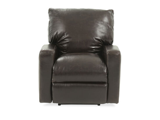 "Leather 39"" Power Recliner in Tobacco"