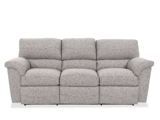 Contemporary 90 Reclining Sofa In Gray Mathis Brothers Furniture