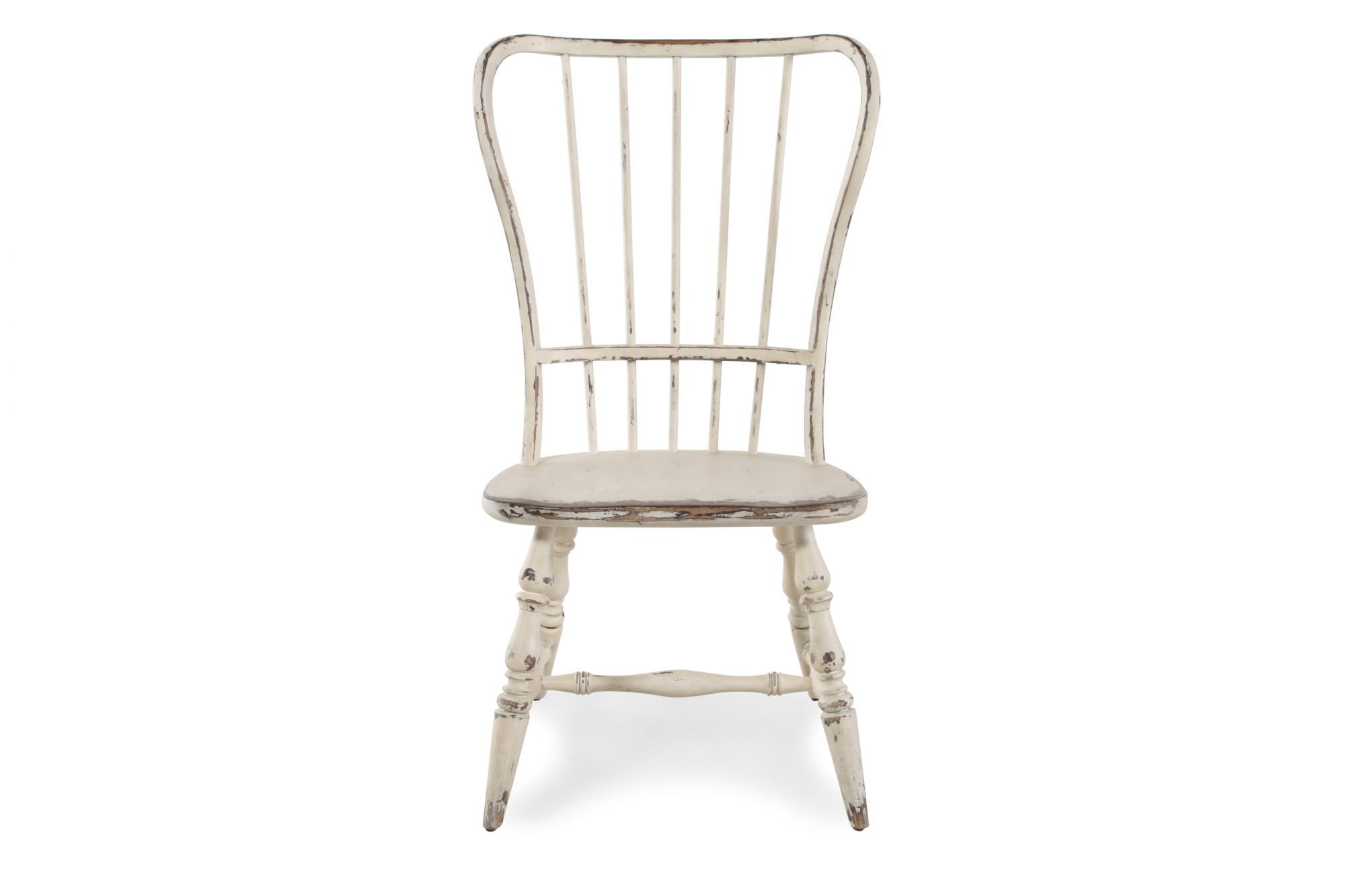 Spindle Back 18 Side Chair In Antique White Mathis