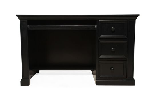 Three-Drawer Youth Desk in Matte Ebony