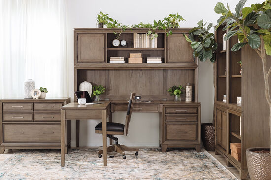 Modular Writing Desk in Dark Brown