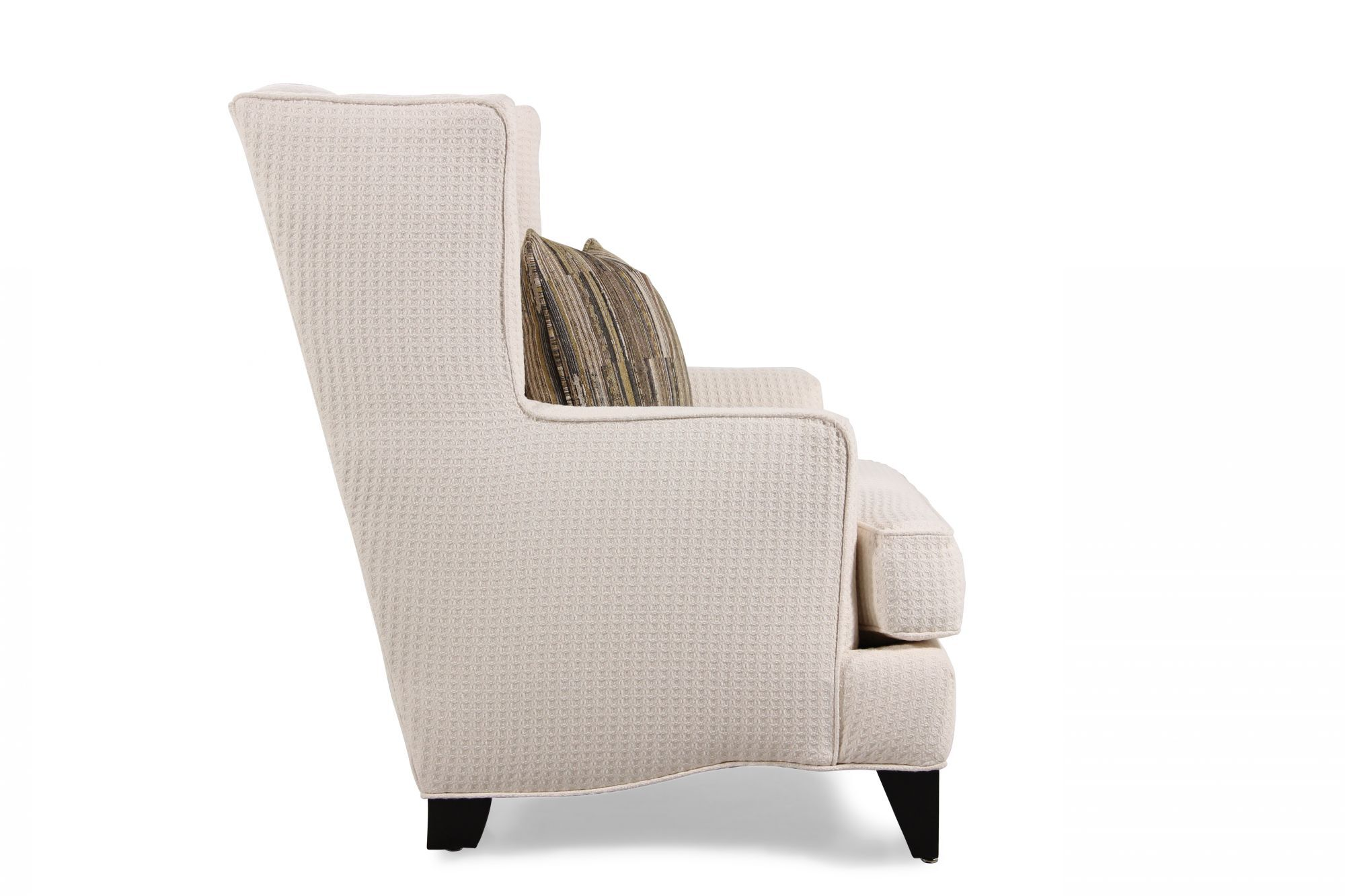... Textured Contemporary Wing Chair In Cream ...