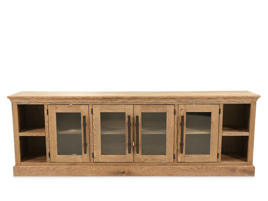 Four-Door Casual Console in Glazed Oak