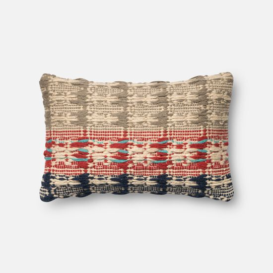 "13""x21"" Pillow Cover Only in Red/Blue"