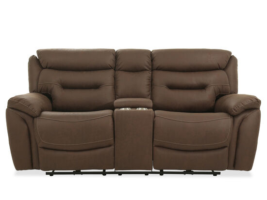 "Power Reclining Casual 82"" Loveseat in Chocolate"