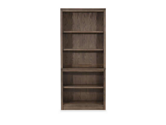 Casual Open Bookcase in Brown