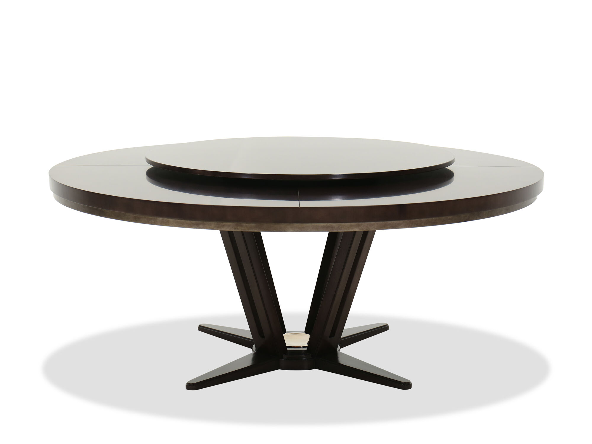 """Contemporary 72"""" Round Dining Table in Brown 