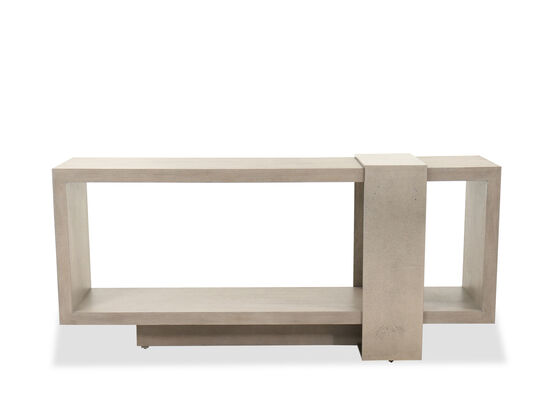 Modern Rectangular Console Table in Textured Graphite