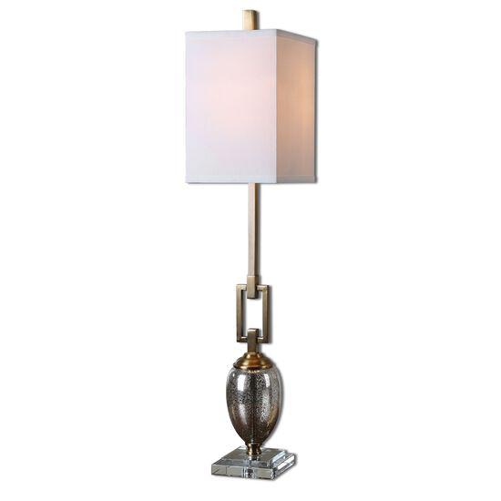 Speckled Mercury Glass Buffet Lamp in Coffee Bronze