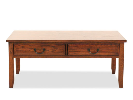 Two-Drawer Weathered Cocktail Tablein Oak