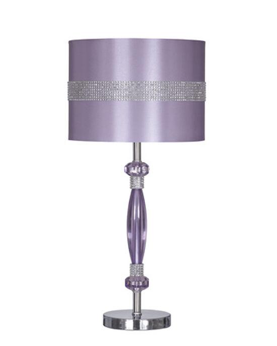Contemporary Rhinestone-Accented Table Lamp in Purple
