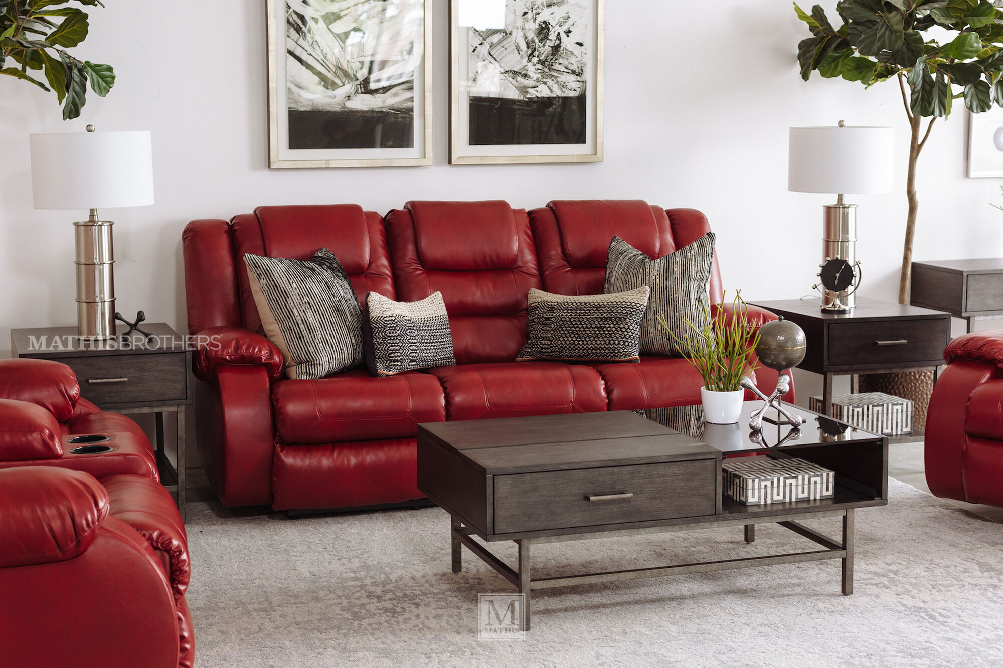 Red · 87 reclining sofa