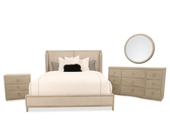 Four-Piece Casual King Bedroom Suite in Gray