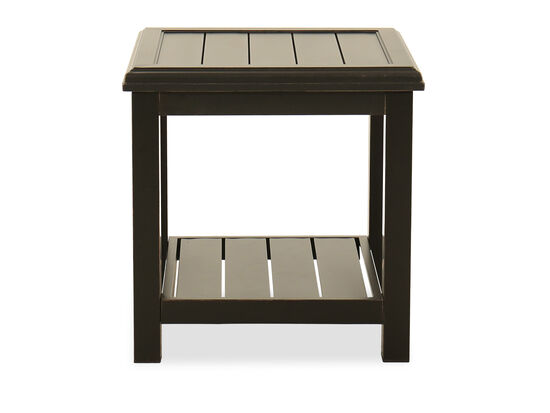 Aluminum Square End Table in Dark Brown