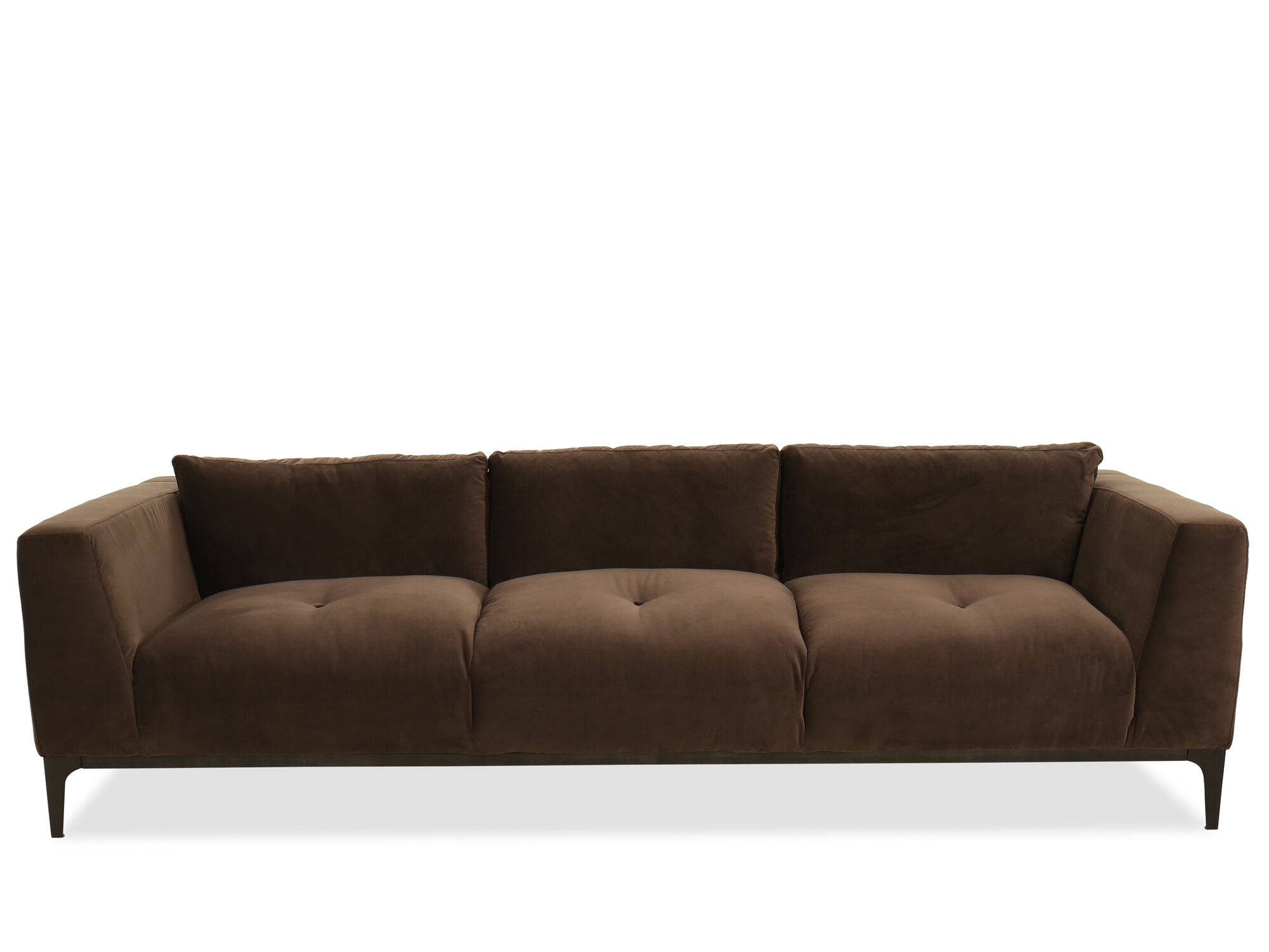 Button Tufted Sofa In Brown ...