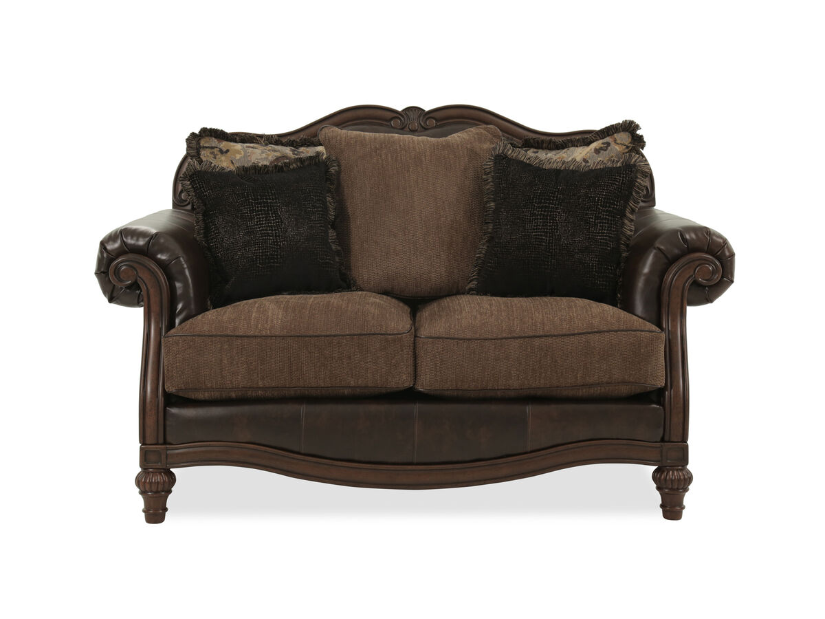Camelback Traditional 68 Loveseat In Brown Mathis Brothers Furniture