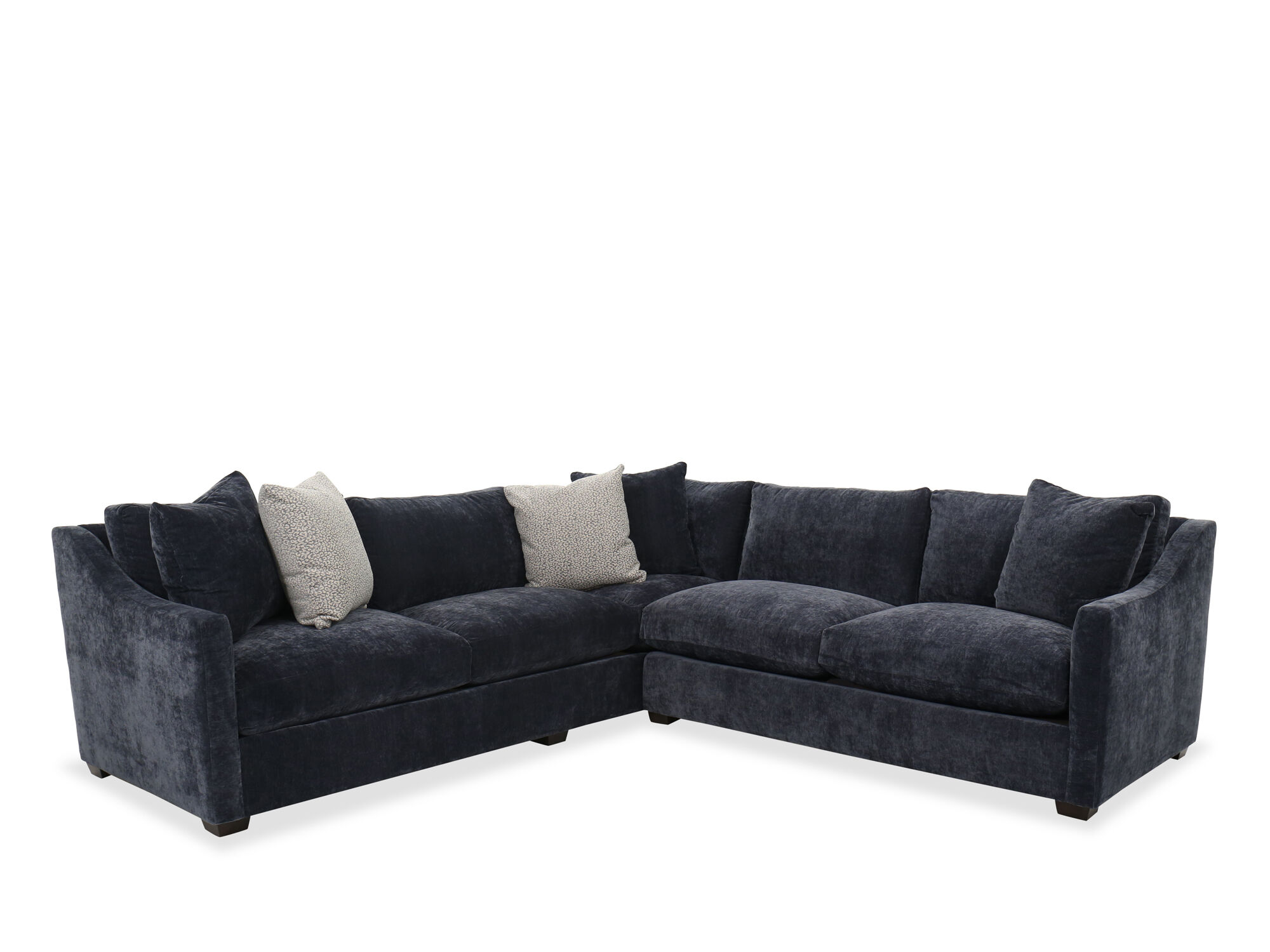 Transitional Sectional in Midnight Blue  Mathis Brothers Furniture