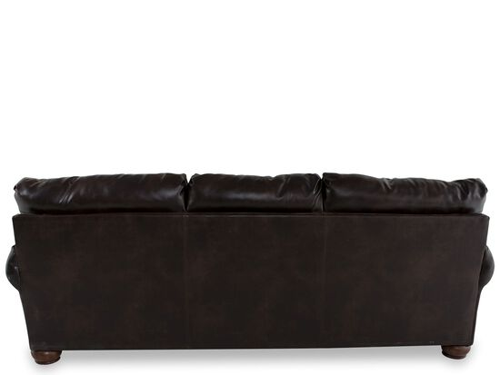 """Traditional Nailhead-Accented 102"""" Sofa in Brown"""