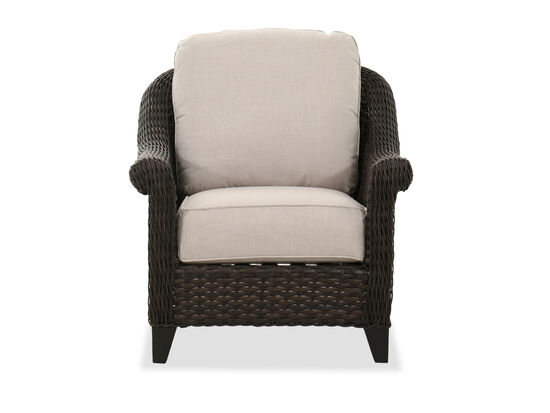 Patio Club Chair In Dark Brown
