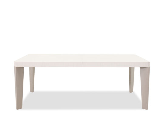 "Transitional 82"" to 122"" Dining Table in Linear White"