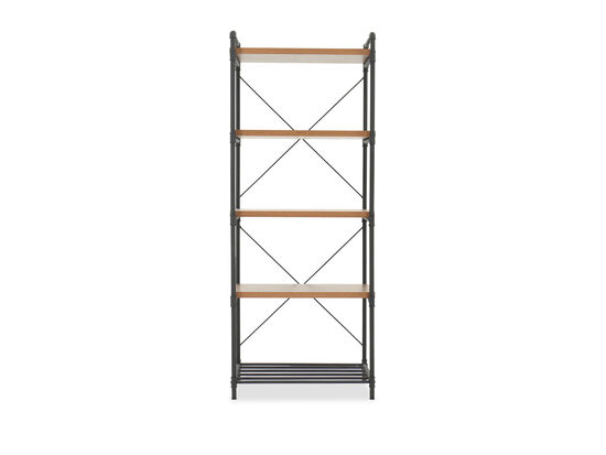 Industrial Tall Bookcase in Checked Oak