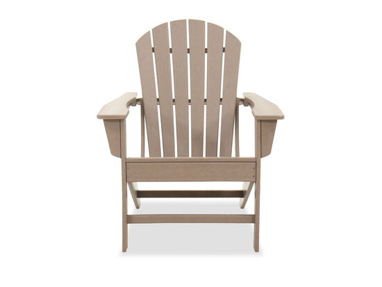 Casual Adirondack Patio Chair in Driftwood
