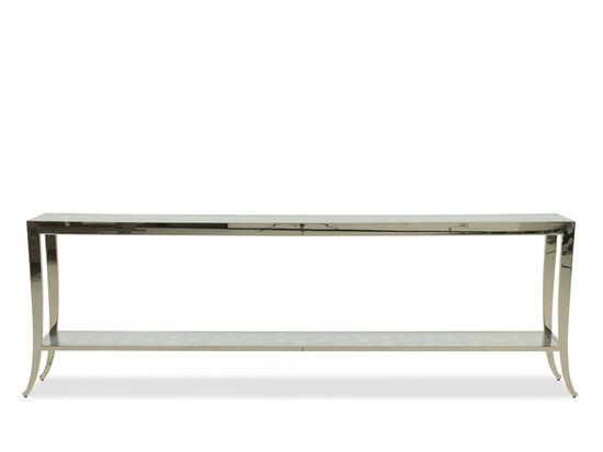 Sabre Legs Modern Sofa Table in Silver