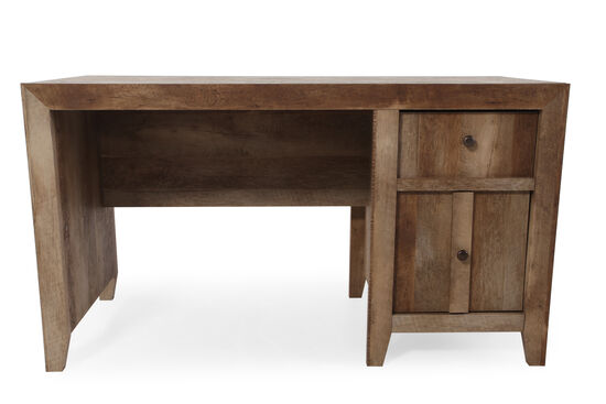 "44"" Contemporary Two-Drawer Desk in Dark Oak"