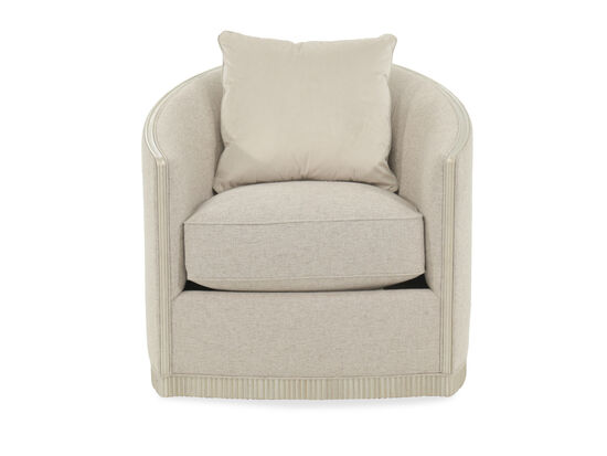 "Exposed Rail Contemporary 31.5"" Swivel Chair in Cream"