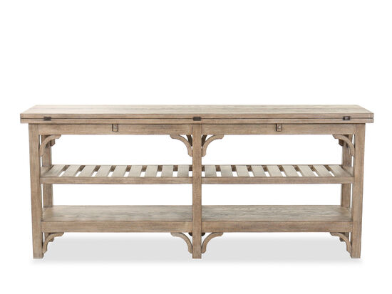 """72"""" Casual Flip Top Console Table in Brown"""