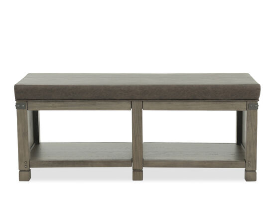 """49"""" Country Bench in Brown"""