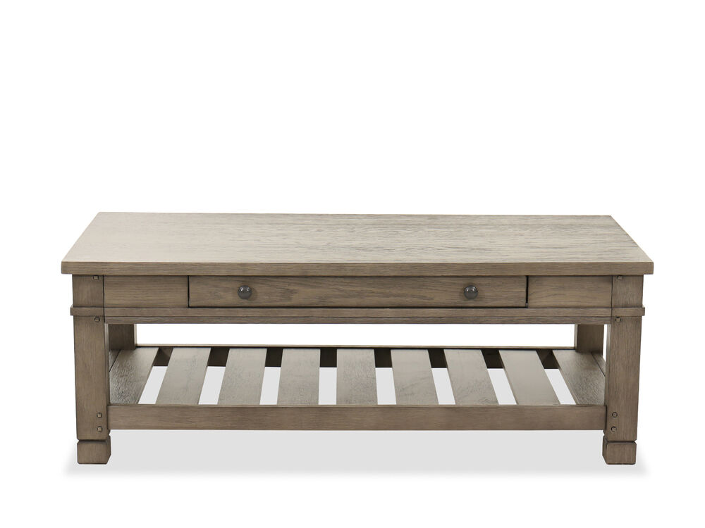 Casual Rectangular Cocktail Table in Stone