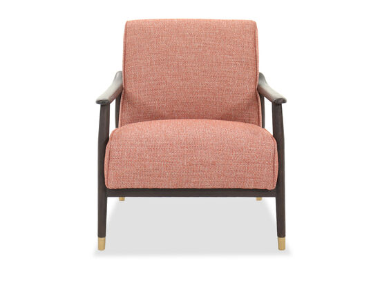"""Transitional 29"""" Accent Chair in Coral"""