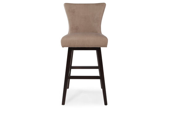 "Contemporary 43"" Swivel Bar Stool in Saddle Brown"