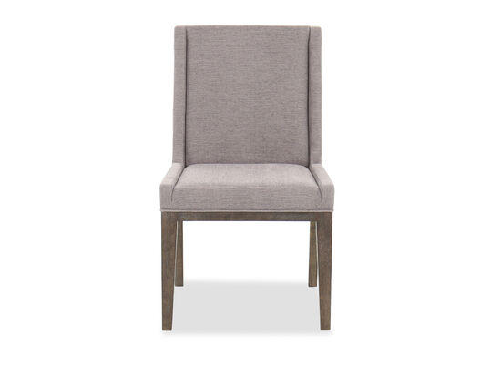 """Casual 38"""" Side Chair in Charcoal/Dove Gray"""