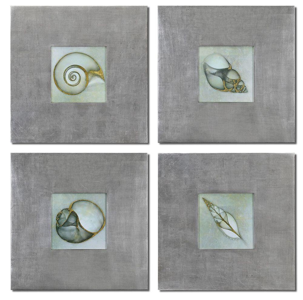Four-Piece Metallic Accented Wall Art Set