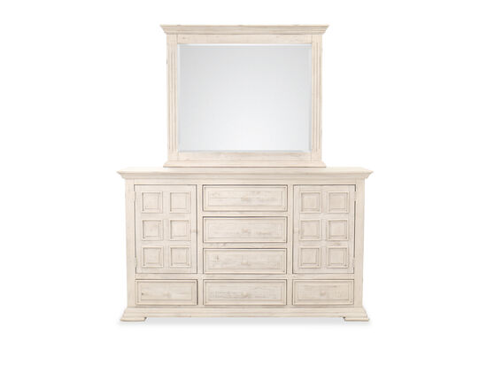 Two-piece Casual Dresser and Mirror Set in White