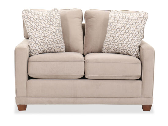 """Transitional 69"""" Track Arm Loveseat in Brown"""
