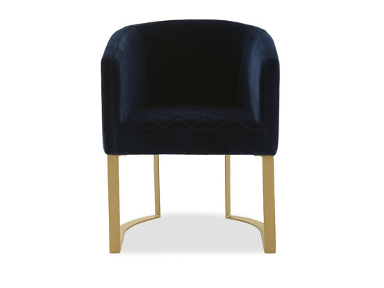Modern Velvet Accent Chair in Blue