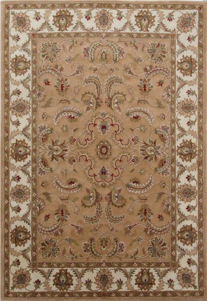 Lb Hand Tufted Wool Camel Ivory Traditional Rug Mathis