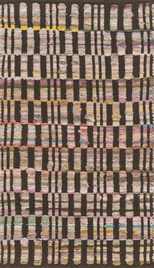 """Contemporary 2'-3""""x3'-9"""" Rug in Brown"""