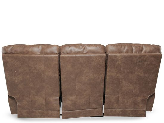 """Traditional 87"""" Reclining Sofa in Brown"""