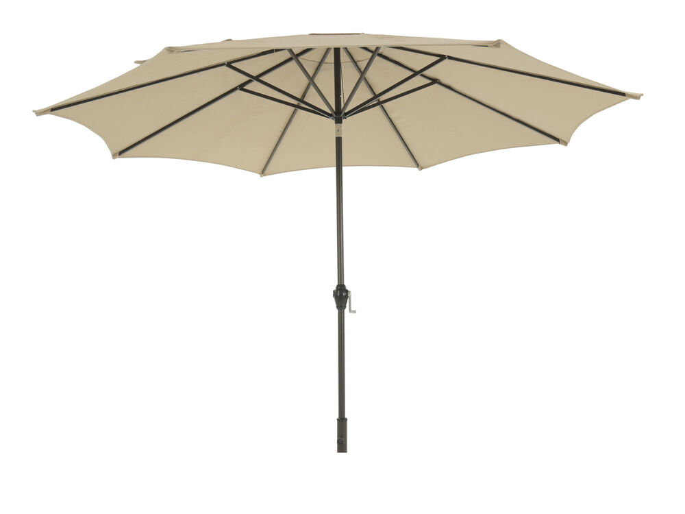 Contemporary Octagonal Tilt Umbrella in Beige