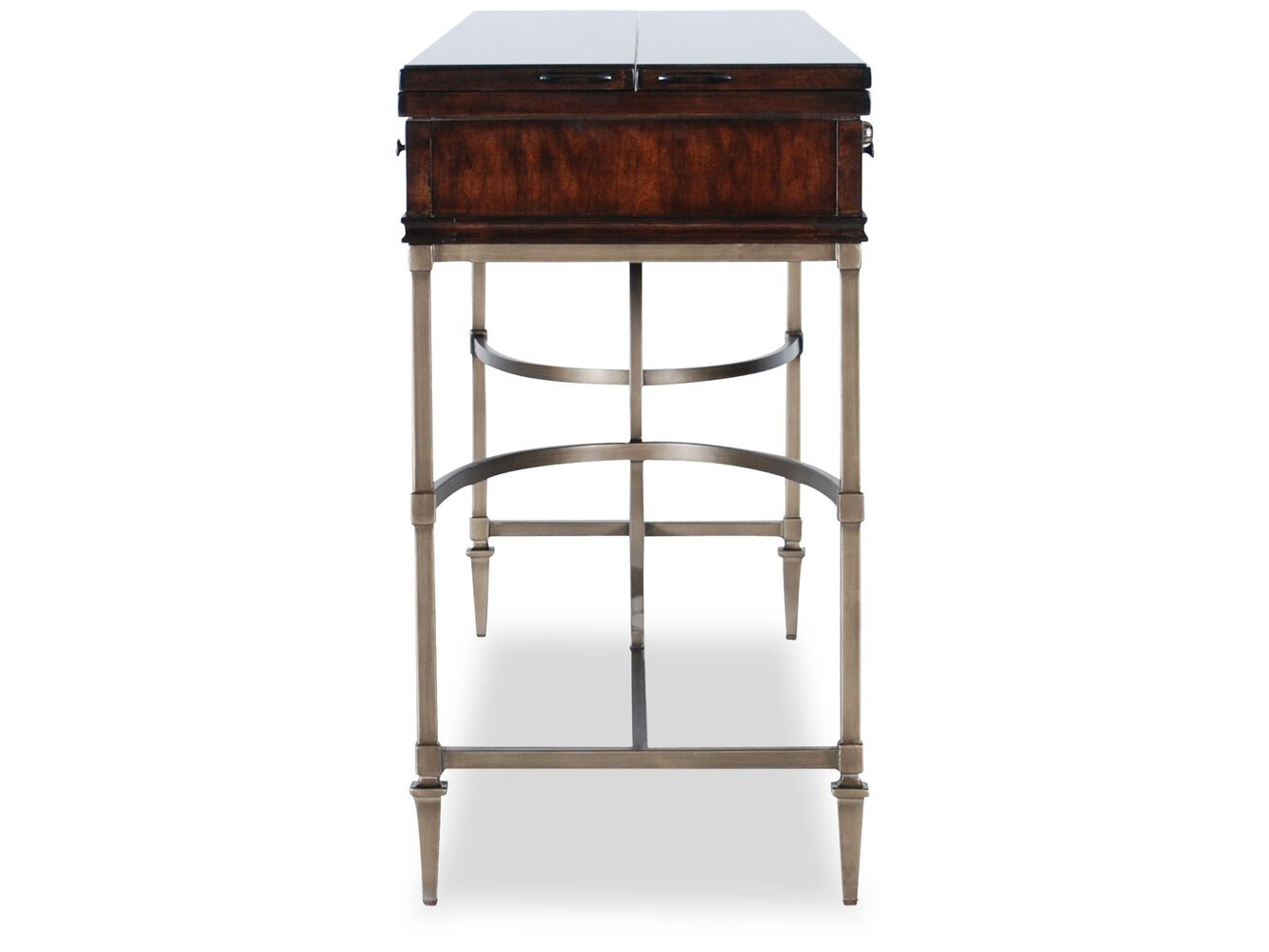 Flip top contemporary console in cherry mathis brothers furniture flip top contemporary console geotapseo Image collections