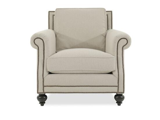 """Nailhead Accented European Classic 39.5"""" Chair in Beige"""