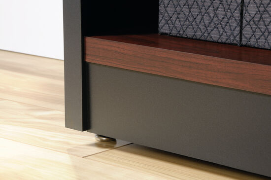 Contemporary Adjustable Shelf Open Library in Classic Cherry